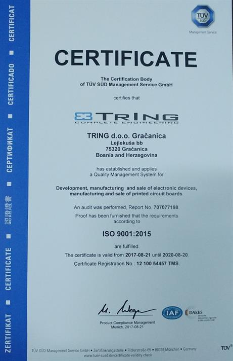 ISO 9001:2015 - Uspješno završena certifikacija
